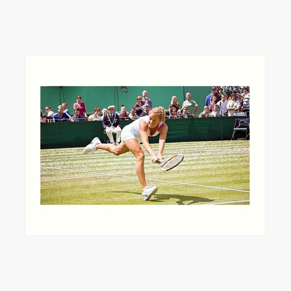 Painting of a tennis championship Art Print