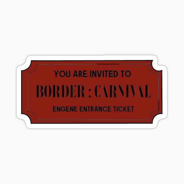 Frontera ENHYPEN: Entrada de carnaval Pegatina