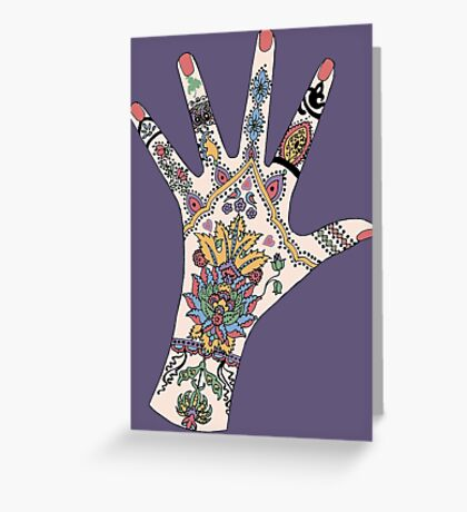 Dr's Colourful Mehndi hand Greeting Card