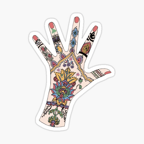 Dr's Colourful Mehndi hand Sticker