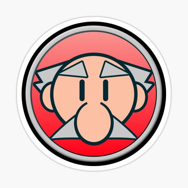 Professor Icon Glänzender Sticker