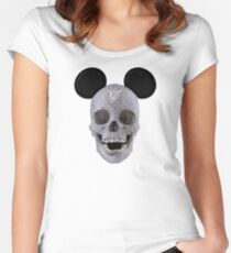 Diamond Mouse Skull Women's Fitted Scoop T-Shirt