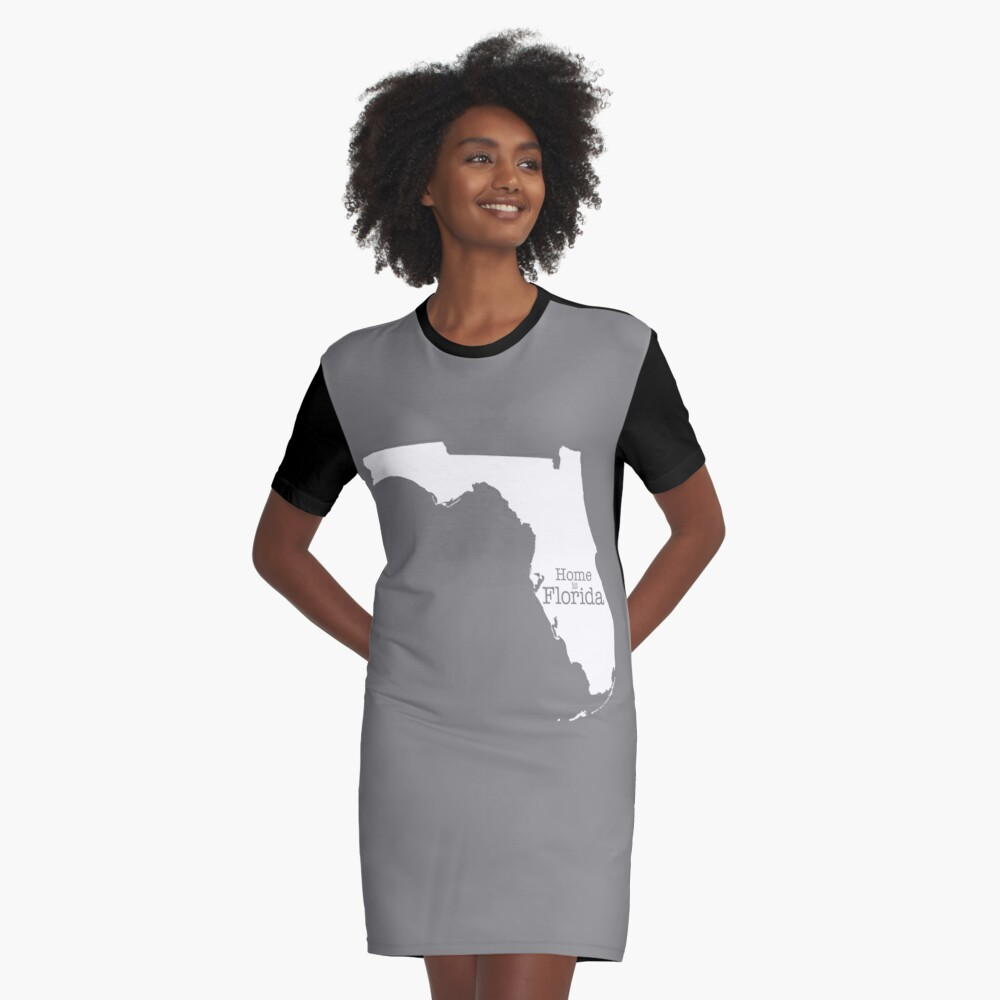 Home is Florida Graphic T-Shirt Dress