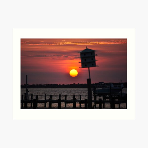 """Calm Before the Storm"" - Sunset at the Sound Art Print"