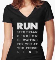 RUN - Dylan O'Brien 2 Women's Fitted V-Neck T-Shirt