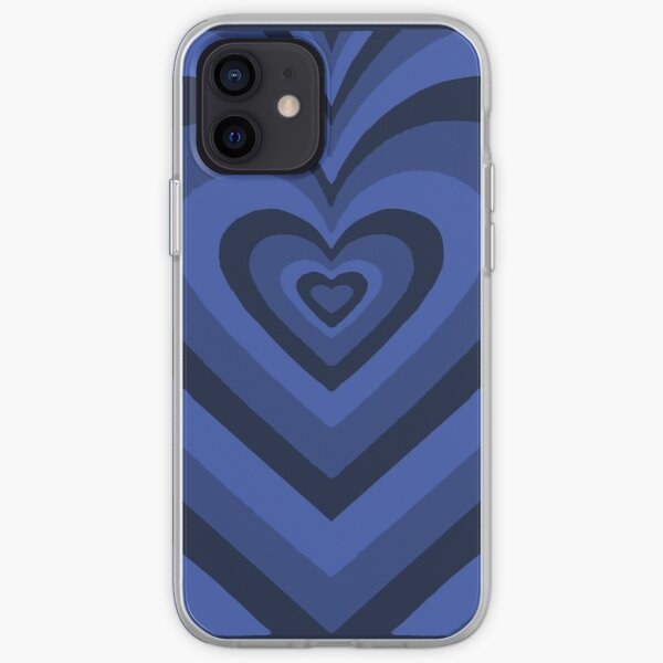 Blue heart shaped iphone case iPhone Soft Case