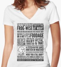 Bald Mank Women's Fitted V-Neck T-Shirt
