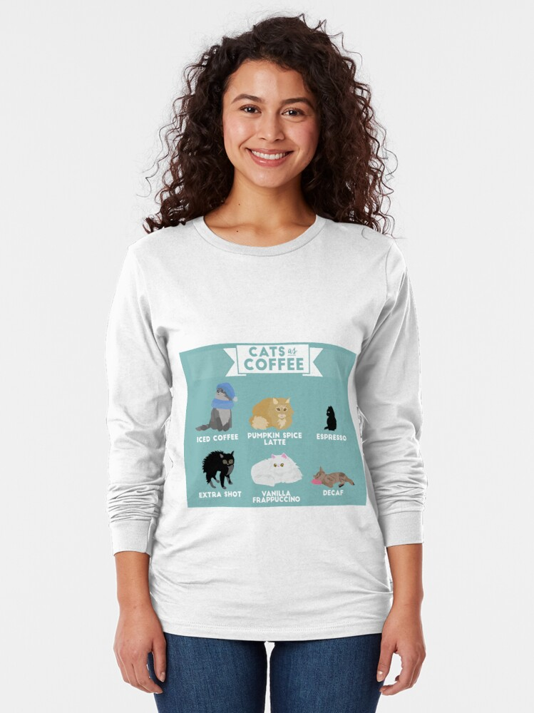 Alternate view of Cats As Coffee Long Sleeve T-Shirt