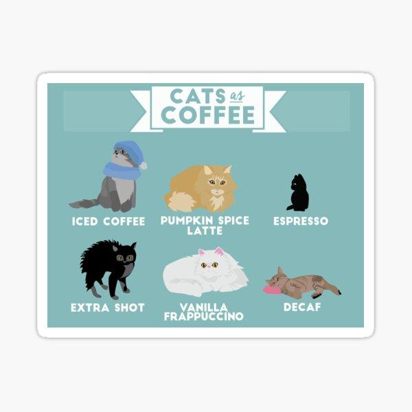 Gatos como el café Pegatina