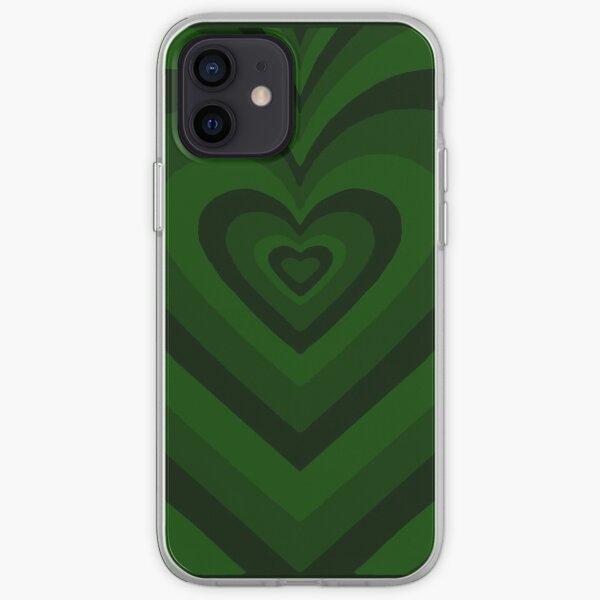 Dark green heart shaped phone case iPhone Soft Case