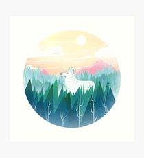 Protector of the pines  Art Print