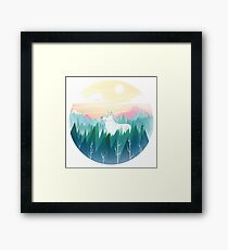 Protector of the pines  Framed Print