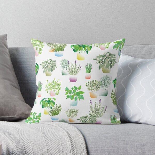 Herb Garden pattern Throw Pillow