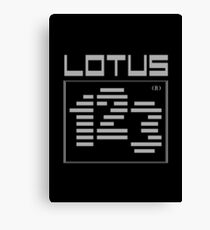 LOTUS 1-2-3 80s SOFTWARE Canvas Print