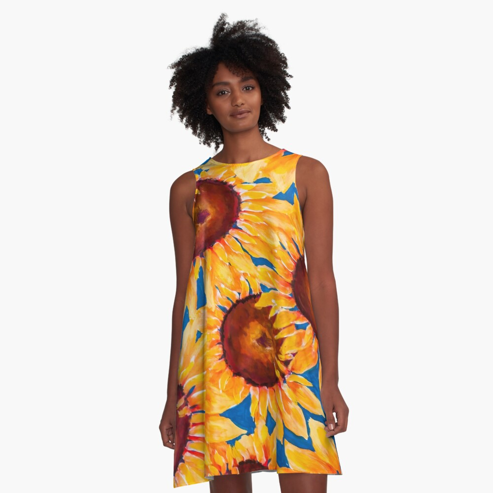 Keep Your Sunny Side Up A-Line Dress Front