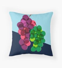 Retro Grapes Throw Pillow