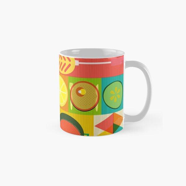 Wondercook Food Kitchen Pattern Classic Mug