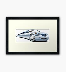 Cartoon Limo Framed Print
