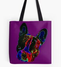 French bulldog, Vincent the frenchie - pop art Tote Bag