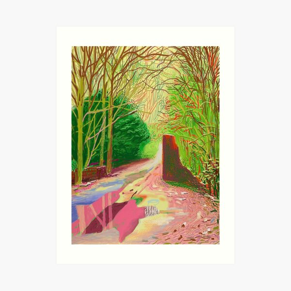 The Arrival of Spring in Woldgate David Hockney Art Print
