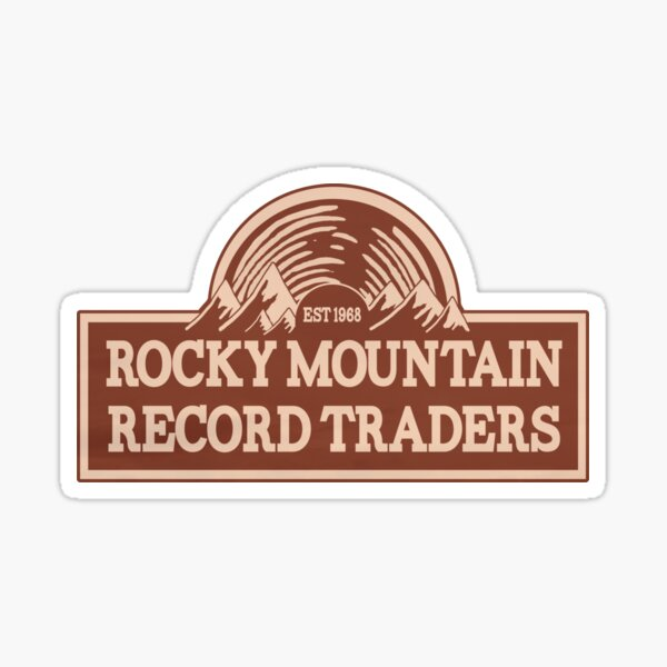 Rocky Mountain Record Traders Logo - Das Leben ist seltsam: Wahre Farben Sticker