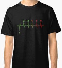 Motorcycle Heartbeat Gear Shift RPM EKG Classic T-Shirt