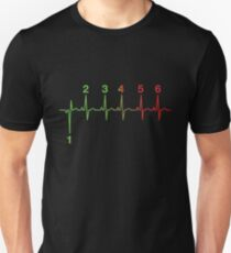 Motorcycle Heartbeat Gear Shift RPM EKG Unisex T-Shirt