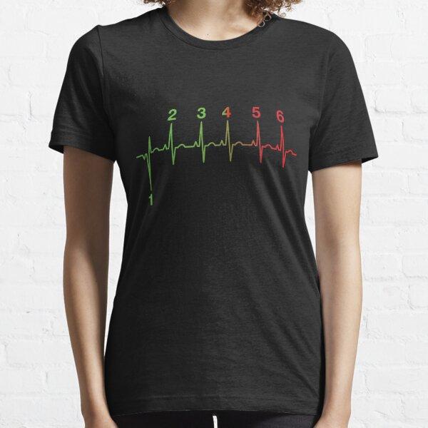 Motorcycle Heartbeat Gear Shift RPM EKG Essential T-Shirt