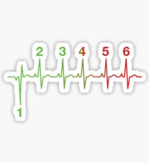 Motorcycle Heartbeat Gear Shift RPM EKG Sticker