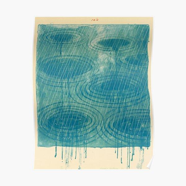 Rain by David Hockney Poster
