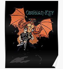 Obsidian Key - Sly Dragon and Sonic V - Progressive Rock Metal - Hand drawn Poster