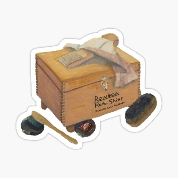 Shoe Shine Box Retro Sticker