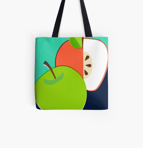 Retro Apple All Over Print Tote Bag