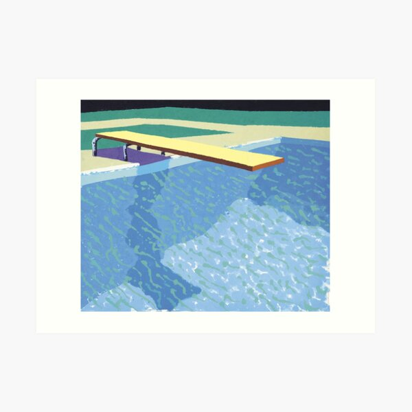 Swimming pool by David Hockney Art Print