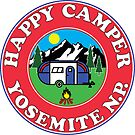 HAPPY CAMPER YOSEMITE NATIONAL PARK CAMPING CALIFORNIA MOUNTAINS CAMPFIRE by MyHandmadeSigns