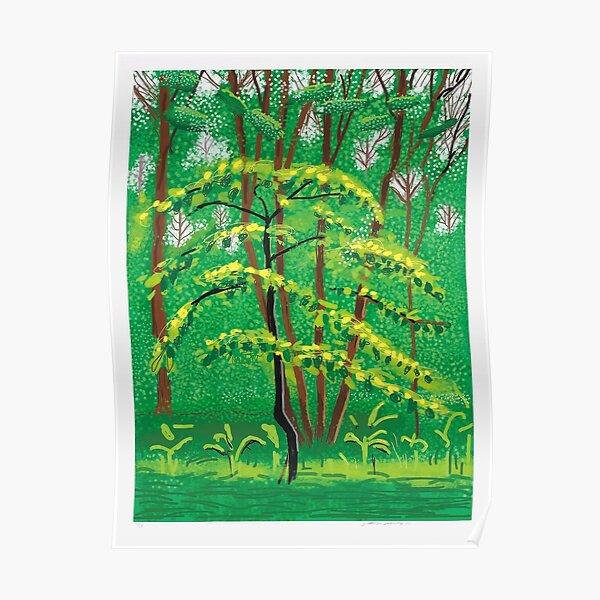 arrivée du printemps David Hockney Poster