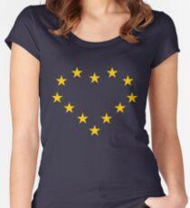 EU heart Women's Fitted Scoop T-Shirt