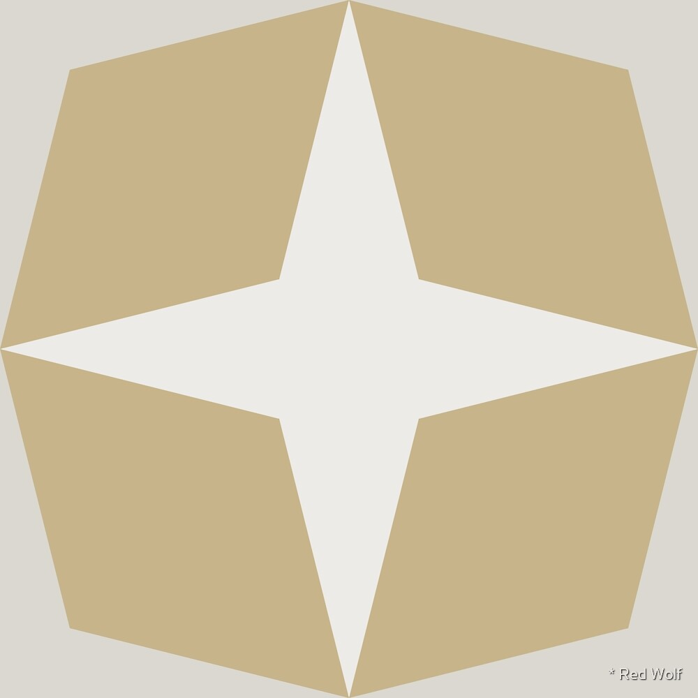 Geometric Pattern: Diamond Star: Sandstone by * Red Wolf