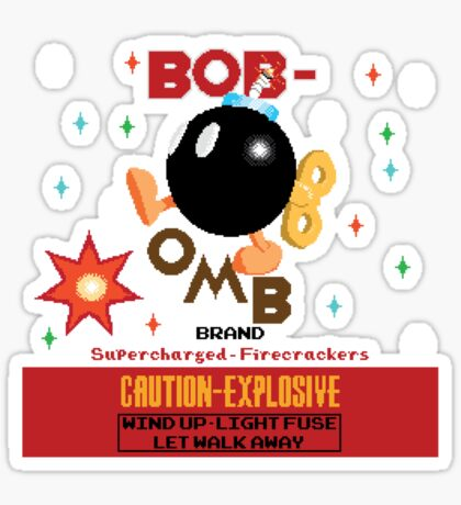 Bob-omb Brand Firecrackers Sticker