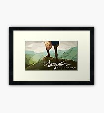 top of the tor Framed Print