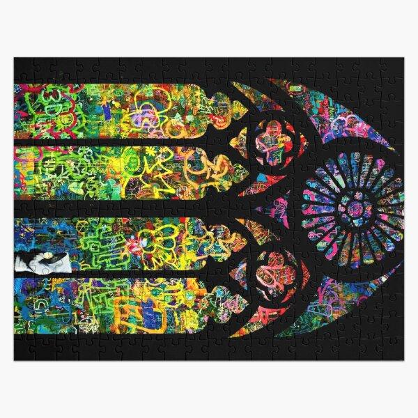 Fenêtre de l'église en verre teinté de Banksy Puzzle