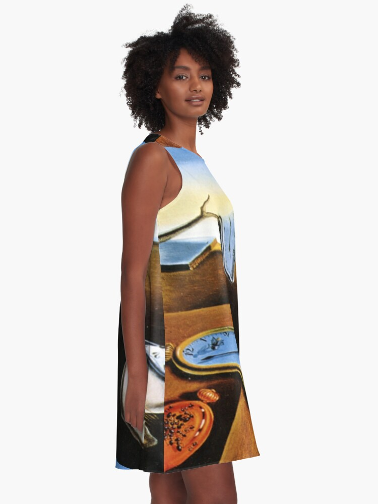 Alternate view of The Persistence of Memory Modernized A-Line Dress