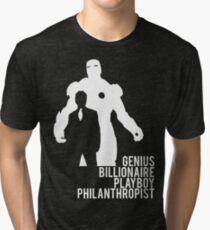 Genius. Billionaire. Playboy. Philanthropist. Tri-blend T-Shirt