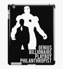 Genius. Billionaire. Playboy. Philanthropist. iPad Case/Skin