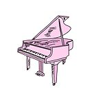 baby pink grand piano by andilynnf