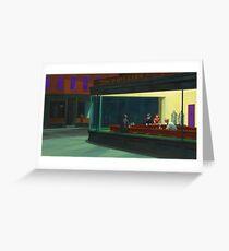 Nighthawks Modernized Greeting Card