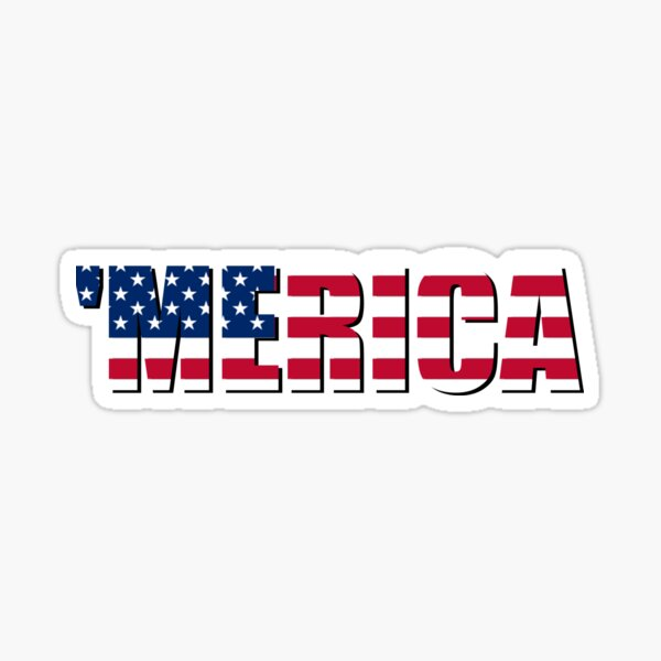 Merica America USA Sticker