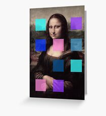 Mona Lisa Modernized Greeting Card