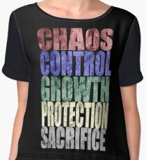 Chaos, Control, Growth, Protection, & Sacrifice Chiffon Top