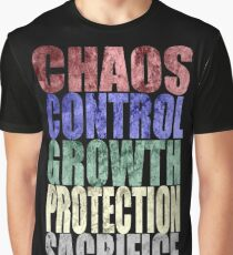 Chaos, Control, Growth, Protection, & Sacrifice Graphic T-Shirt